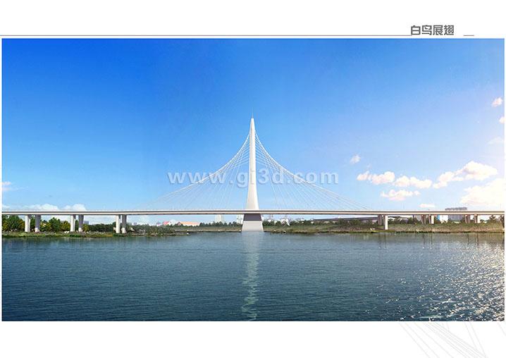 东荆河大桥景观